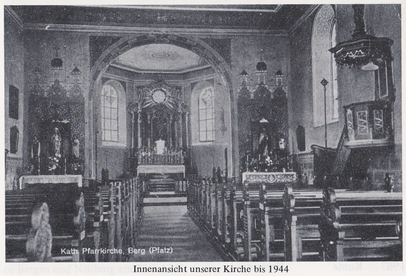 Interior of the old pre-war St. Bartholomew Church