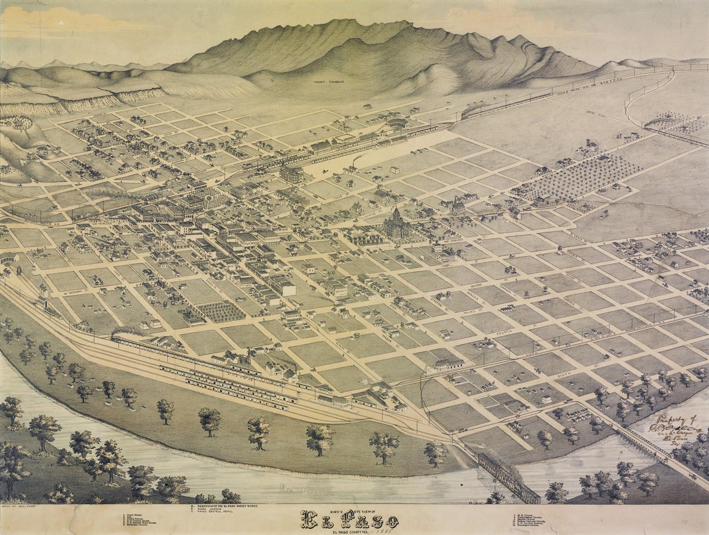 View of El Paso, 1886