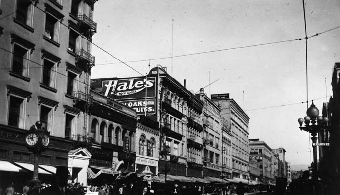 The J. M. Hale Company, 341-345 So. Broadway, Los Angeles, where Carlos Alvarado worked