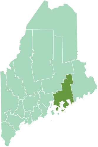 Location of Hancock County in Maine