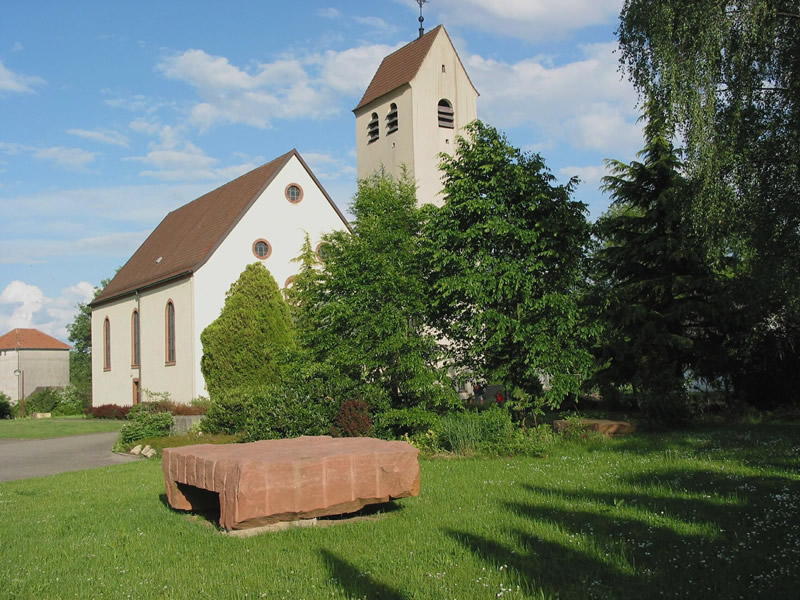 Rebuilt Church of St. Bartholomew in Berg, Pfalz