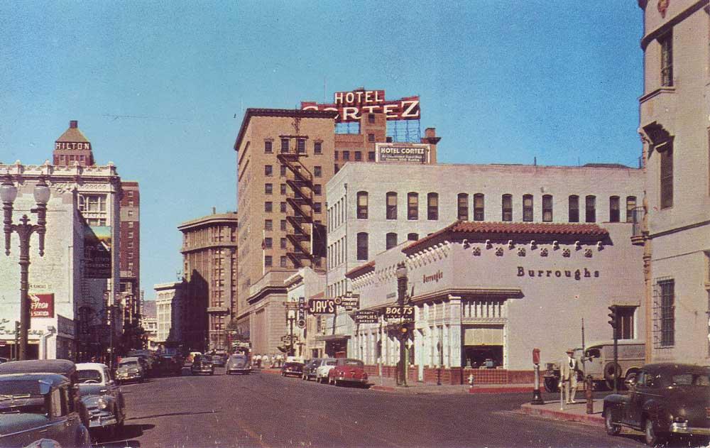 East Mills Avenue, looking west from N. Kansas Street, El Paso