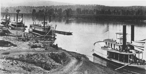 Union army troop transports at Chattanooga