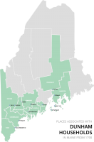 Dunham Families in Maine in 1790