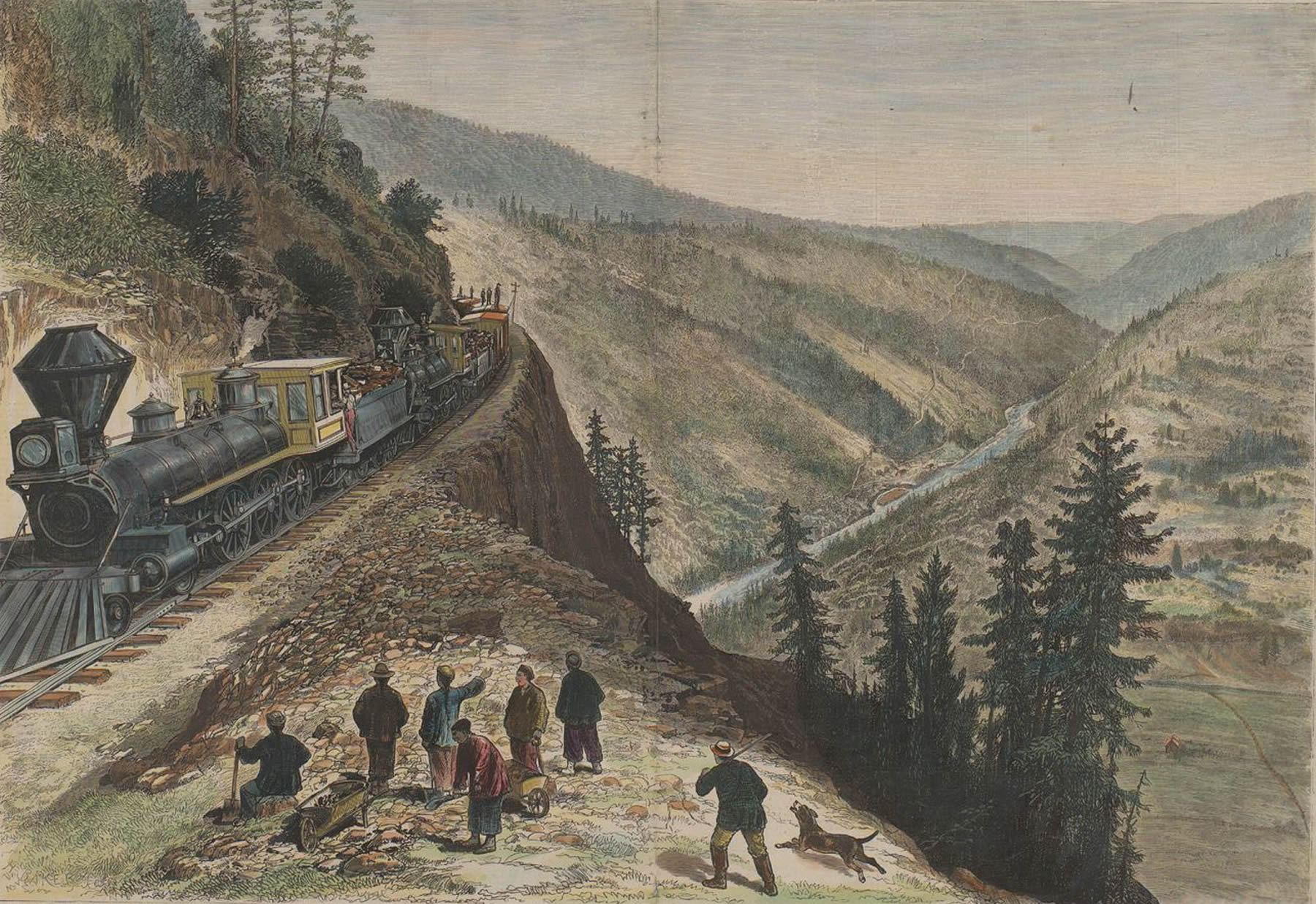 Across the continent: the Frank Leslie transcontinental excursion, Horace Baker (1833-1918), engraver and Frank Leslie, publisher, 1878, Courtesy online archive of California.