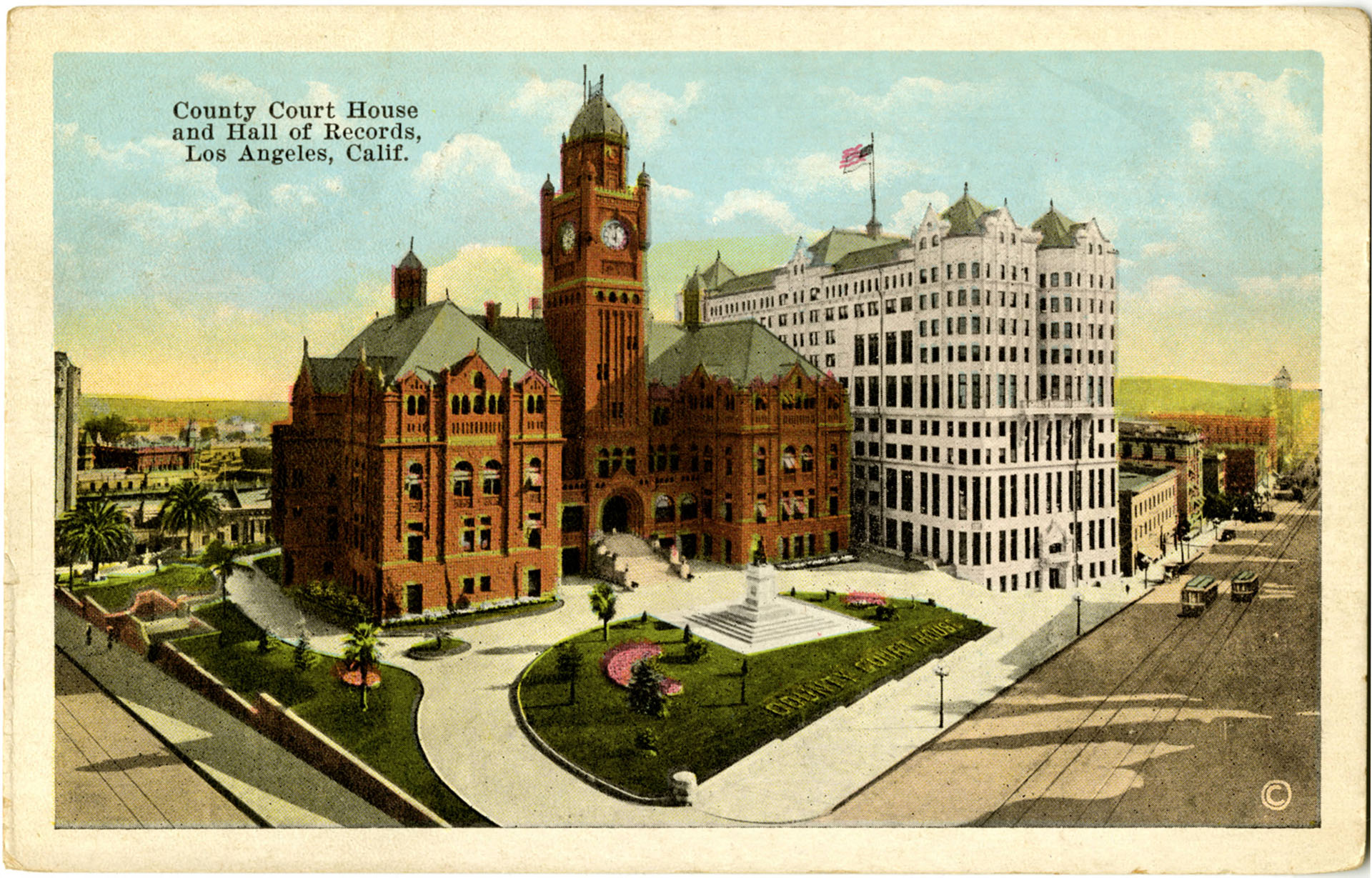 County Courthouse and Hall of Records, Los Angeles, circa 1907