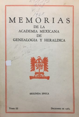 Memorias de la Academia Mexicana de Genealogía y Heráldica