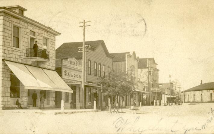 Front Street, Rocklin, Placer County, circa 1907, courtesy Placer County Museums