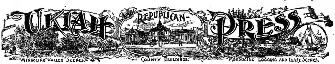 Ukiah Republican Press nameplate